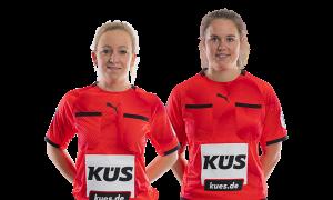 Svenja Maczeyzik und Saskia Blunck sind Schiedsrichterinnen im Handball © Marco Wolf / DHB
