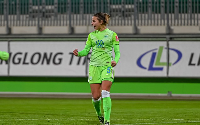Lena Oberdorf verlängert beim VfL Wolfsburg bis 2024. © VfL Wolfsburg