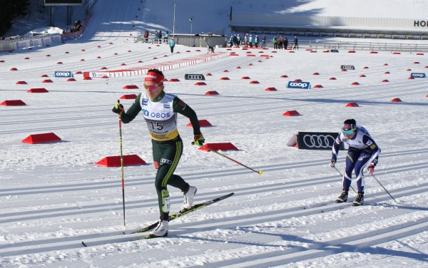 Katharina Hennig beim Holmenkollenrennen in Oslo 2019. © AJKlingenthal - Own work, CC BY-SA 4.0, https://commons.wikimedia.org/w/index.php?curid=77390104