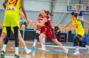 Svenja Brunckhorst im EM-Qualifikationsspiel gegen Nord Mazedonien. © FIBA