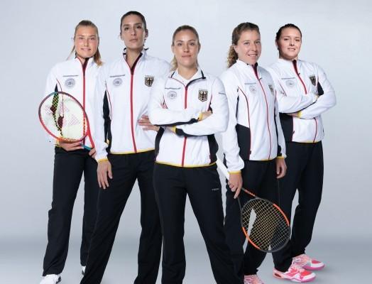 Diese fünf Spielerinnen vertreten den DTB beim Finale des Billie Jean King Cups. © PAG