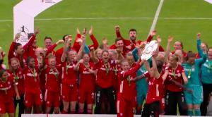 Meistertitel für die FC Bayern Frauen. © Screenshot BR