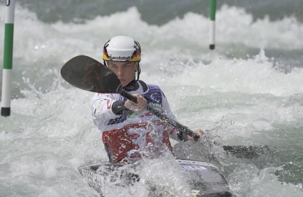 Starker Auftritt von Cindy Pöschel bei der Kanu-EM 2021 in Italien. © Uta Büttner