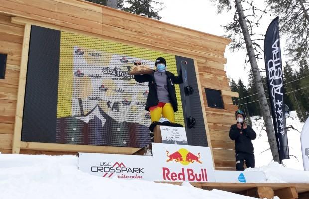 Florina Pohl holt sich den nationalen Titel. © Snowboard Germany