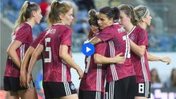Die DFB-Frauen im Spiel gegen Israel. © Screenshot Sportschau