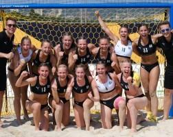 Jubel beim deutschen Beachhandball-Team. © Julia Nikoleit