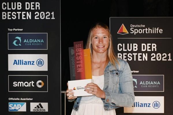 Aline Rotter-Focken erhält Auszeichnung der Deutschen Sporthilfe. © picture alliance/Annette Riedl