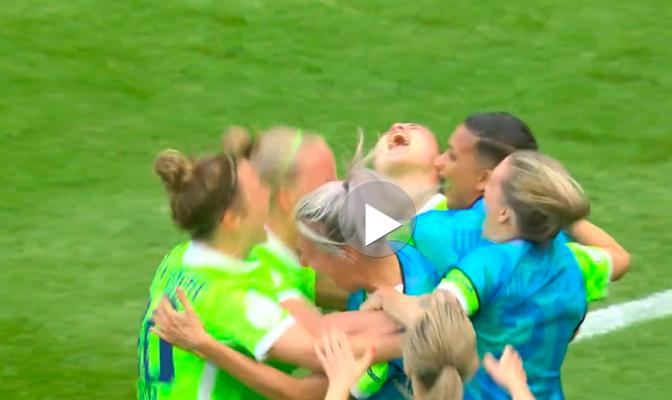 Jubel um Ewa Pajors Siegtreffer. © Screenshot Sportschau