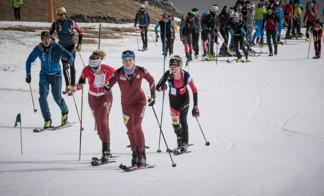 Antonia Niedermaier holt Gold im Vertical Race. © Maurizio Torri