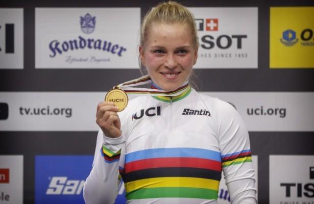 Emma Hinze hofft, dass Olympia stattfinden wird. © BDR
