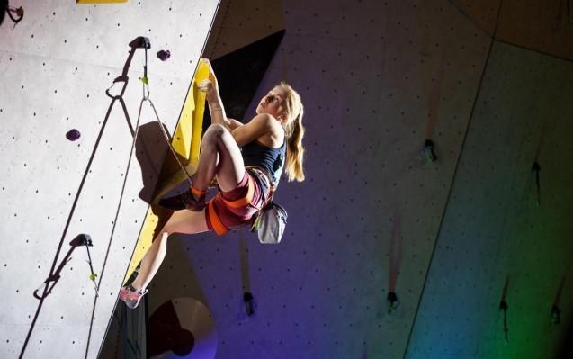 Martina Demmel holt bei der Deutschen Meisterschaft alles aus sich heraus. © DAV/Marco Kost