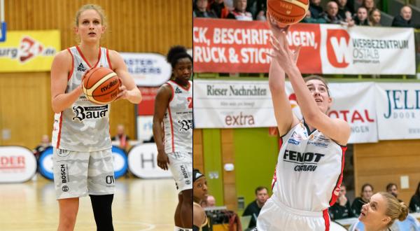 Leonie Fiebich (l.) und Luisa Geiselsöder spielen erst 2021 in der WNBA. © Gabi Hörndl/Martin Fürleger