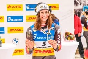 Julia Taubitz holte in Königssee zwei WM-Titel. © FotoManLV