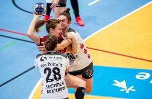 Der Thüringer HC konnte gegen den Buxtehuder SV punkten. © Thüringer HC/Christian Heilwagen