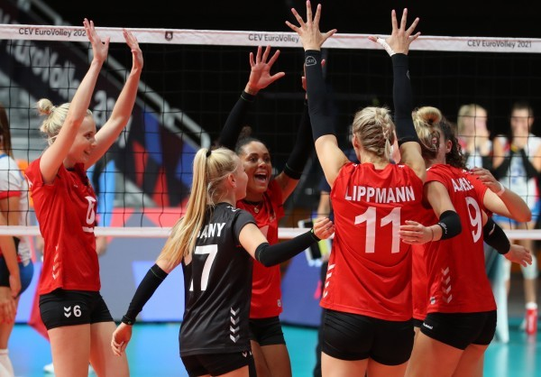 Jubel beim deutschen Team. © CEV