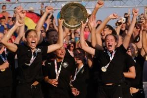 Die deutschen Handballerinnen sind Beachhandball-Europameister 2021. © Julia Nikoleit