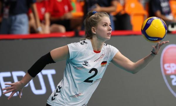 Pia Kästner hat gegen Spanien ein tolles Spiel gezeigt. © CEV
