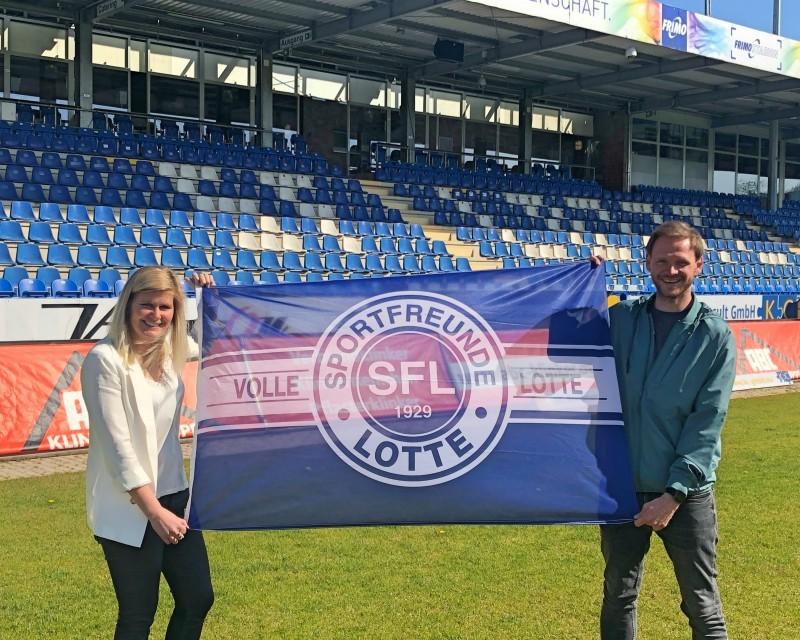 Imke Wübbenhorst hat bei den Sportfreunden Lotte einen Zweijahresvertrag unterschrieben. © Sportfreunde Lotte