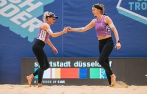 Madeleine Meppelink und Sanne Keizer holen den Titel. © Flo Treiber/floriantreiber.de