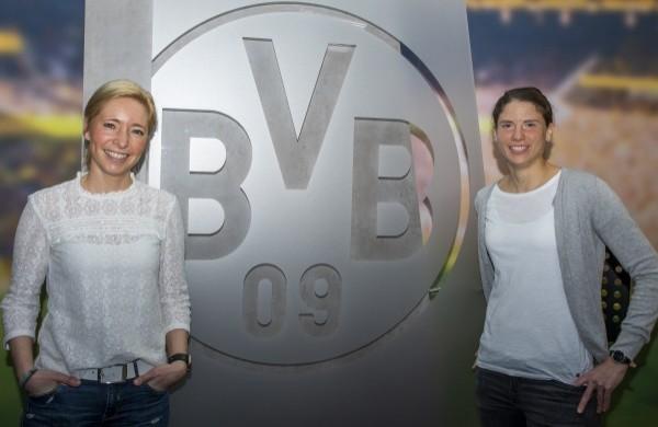 Svenja Schlenker und die ehemalige Nationalspielerin Annike Krahn. © BVB