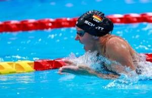 Verena Schott sichert sich im Schwimmen die Bronze-Medaille. © Binh Truong / DBS