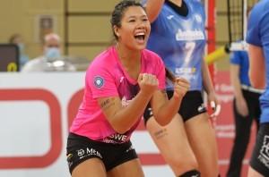 VCW-Libera Justine Wong-Orantes holte in Tokio mit ihrem US-Nationalteam Gold. © Detlef Gottwald