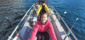 Sonja Graf (vorne) und Marina Hunziker wollen im Ruderboot über den Atlantik. © ProwjectX