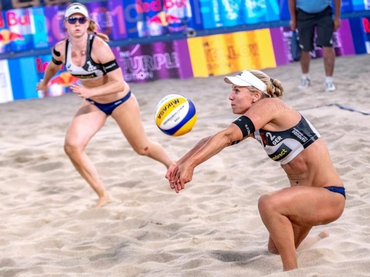 Karla Borger (r.) spürt noch keine Olympia-Vorfreude