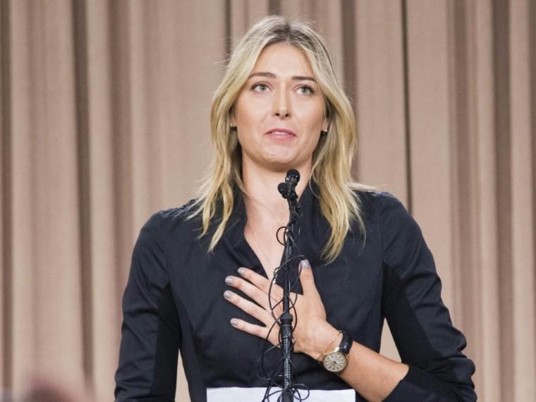 Scharapowa bei der von ihr einberufenen Pressekonferenz