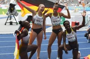 Die deutsche 4x100 Meter Staffel 2018 in Berlin. © Martin Rulsch, CC BY-SA 4.0, https://commons.wikimedia.org/w/index.php?curid=82209266