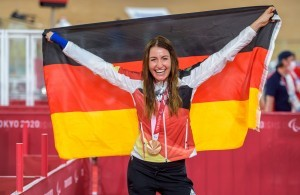 Unsere erste Medaillengewinnerin © Oliver Kremer/DBS