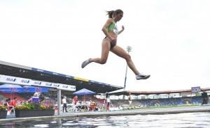Hindernisläuferin Gesa Krause sichert sich den zweiten Titel. © DLV/Benjamin Heller